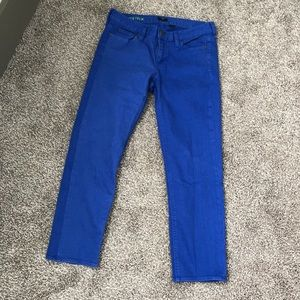 J.Crew Matchstick Royal Blue Jeans